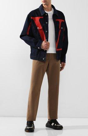 Мужские кожаные кроссовки BOTTEGA VENETA черного цвета, арт. 565646/VJE21 | Фото 2