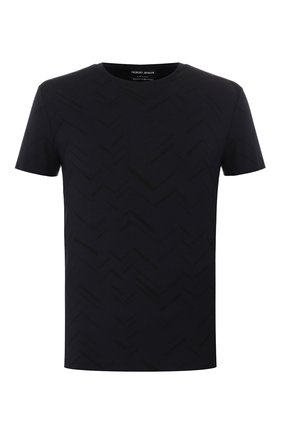 Мужская футболка из вискозы GIORGIO ARMANI синего цвета, арт. 3HST86/SJASZ   Фото 1