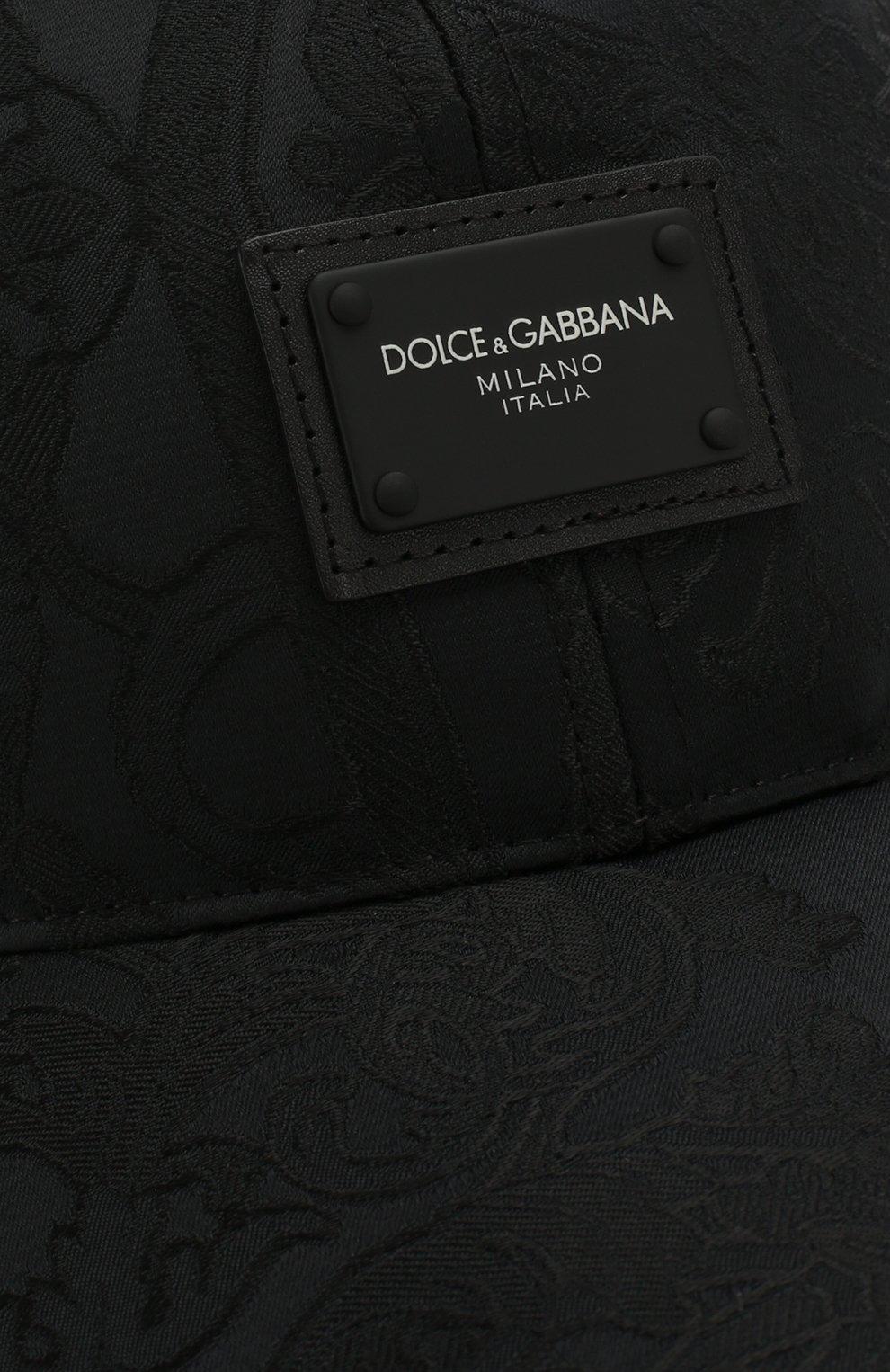Мужской бейсболка DOLCE & GABBANA черного цвета, арт. GH590A/HJMI0 | Фото 3