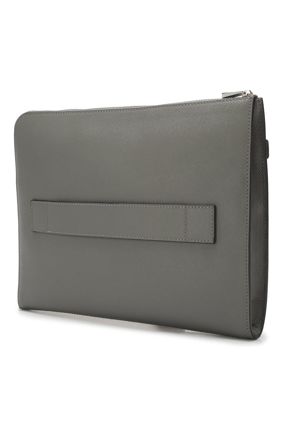 Мужская кожаная папка для документов evoluzione SERAPIAN серого цвета, арт. SEV0LMML5940M35E | Фото 3