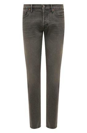 Мужские джинсы TOM FORD серого цвета, арт. BUJ04/TFD002 | Фото 1