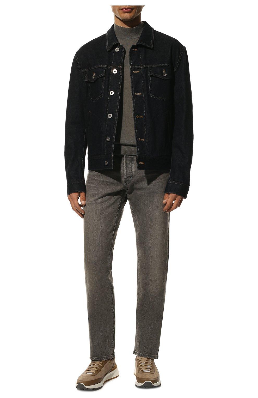 Мужские джинсы TOM FORD серого цвета, арт. BUJ04/TFD002 | Фото 2 (Силуэт М (брюки): Прямые; Длина (брюки, джинсы): Стандартные; Материал внешний: Хлопок)