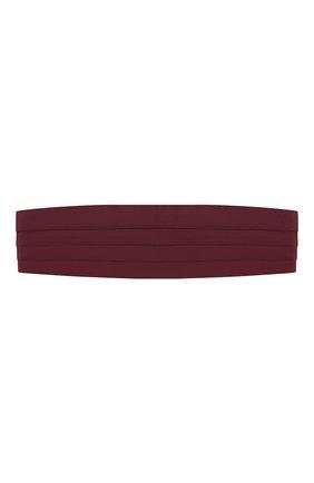 Мужской шелковый камербанд BRIONI бордового цвета, арт. 000100/PZ418 | Фото 1
