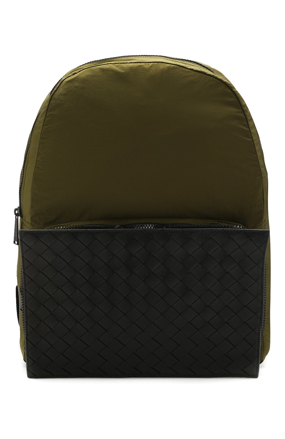 Мужской комбинированный рюкзак BOTTEGA VENETA хаки цвета, арт. 609854/VCQG1   Фото 1