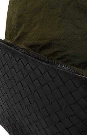 Мужской комбинированный рюкзак BOTTEGA VENETA хаки цвета, арт. 609854/VCQG1   Фото 3