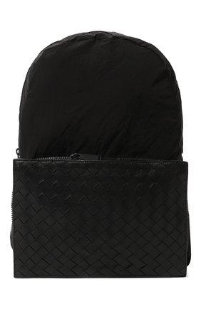 Мужской комбинированный рюкзак BOTTEGA VENETA черного цвета, арт. 609854/VCQG1 | Фото 1