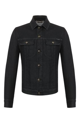 Мужская джинсовая куртка DOLCE & GABBANA синего цвета, арт. G90H7D/G8BV3 | Фото 1
