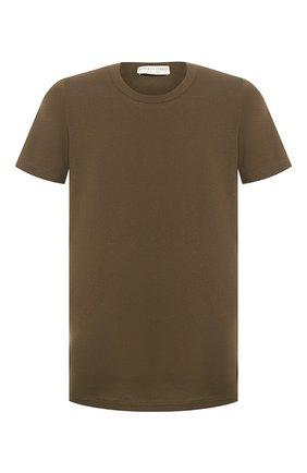 Мужская хлопковая футболка BOTTEGA VENETA хаки цвета, арт. 600852/VF2A0 | Фото 1