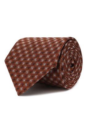 Мужской шелковый галстук CORNELIANI оранжевого цвета, арт. 85U302-0120372/00 | Фото 1