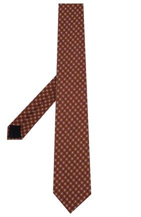 Мужской шелковый галстук CORNELIANI оранжевого цвета, арт. 85U302-0120372/00 | Фото 2
