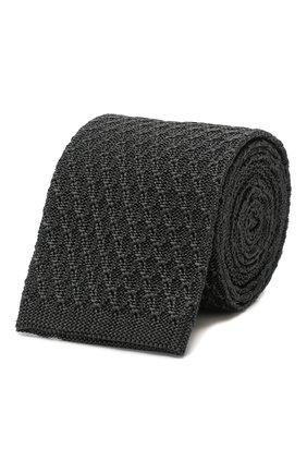 Мужской шелковый галстук ERMENEGILDO ZEGNA серого цвета, арт. Z7F01/15D | Фото 1