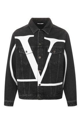 Мужская джинсовая куртка VALENTINO черного цвета, арт. TV3DC00K606 | Фото 1