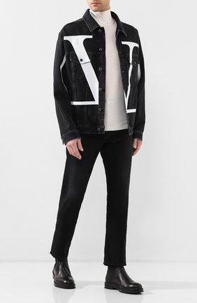 Мужская джинсовая куртка VALENTINO черного цвета, арт. TV3DC00K606 | Фото 2