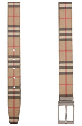 Мужской ремень BURBERRY бежевого цвета, арт. 8025136 | Фото 2