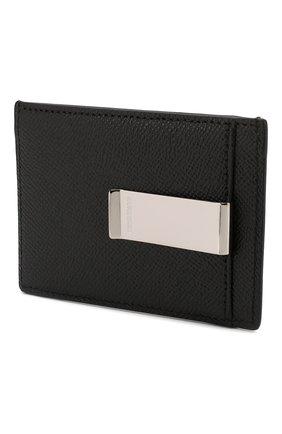 Мужской кожаный футляр для кредитных карт BURBERRY черного цвета, арт. 8014665 | Фото 2