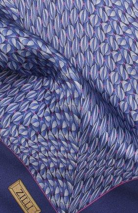 Мужской шелковый платок ZILLI фиолетового цвета, арт. 50715/HANDKERCHIEFS | Фото 2 (Материал: Текстиль)