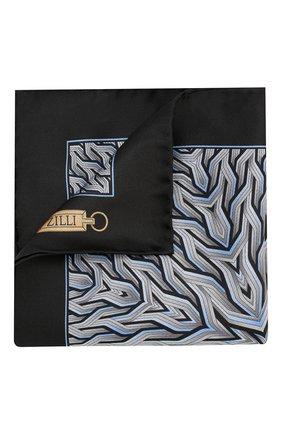 Мужской шелковый платок ZILLI серого цвета, арт. 50709/HANDKERCHIEFS | Фото 1