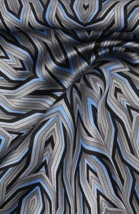 Мужской шелковый платок ZILLI серого цвета, арт. 50709/HANDKERCHIEFS | Фото 2