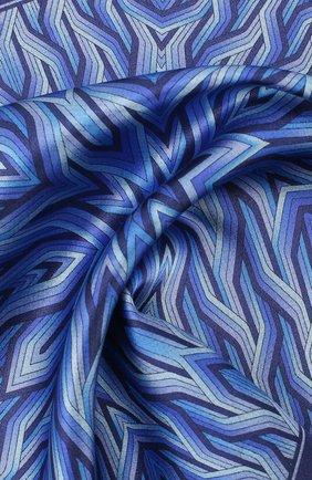 Мужской шелковый платок ZILLI синего цвета, арт. 50709/HANDKERCHIEFS | Фото 2