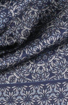 Мужской шелковый платок ZILLI темно-синего цвета, арт. 50703/HANDKERCHIEFS | Фото 2