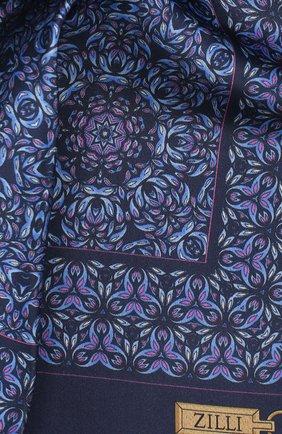 Мужской шелковый платок ZILLI синего цвета, арт. 50703/HANDKERCHIEFS | Фото 2