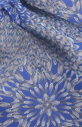 Мужской шелковый платок ZILLI синего цвета, арт. 50700/HANDKERCHIEFS | Фото 2