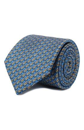 Мужской шелковый галстук ZILLI голубого цвета, арт. 50579/TIES | Фото 1