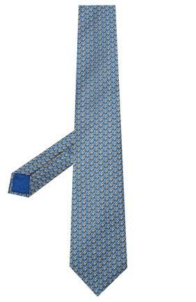 Мужской шелковый галстук ZILLI голубого цвета, арт. 50579/TIES | Фото 2