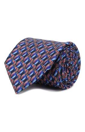 Мужской шелковый галстук ZILLI синего цвета, арт. 50547/TIES | Фото 1