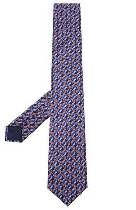 Мужской шелковый галстук ZILLI синего цвета, арт. 50547/TIES | Фото 2