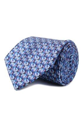 Мужской шелковый галстук ZILLI синего цвета, арт. 50532/TIES | Фото 1