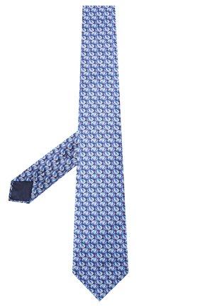 Мужской шелковый галстук ZILLI синего цвета, арт. 50532/TIES | Фото 2