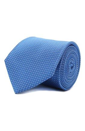 Мужской шелковый галстук ZILLI синего цвета, арт. 50503/TIES | Фото 1