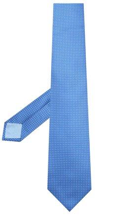 Мужской шелковый галстук ZILLI синего цвета, арт. 50503/TIES | Фото 2