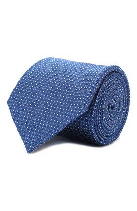 Мужской шелковый галстук ZILLI темно-синего цвета, арт. 50503/TIES | Фото 1