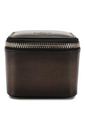 Мужская кожаный футляр для наручных часов BERLUTI темно-коричневого цвета, арт. X195287 | Фото 1