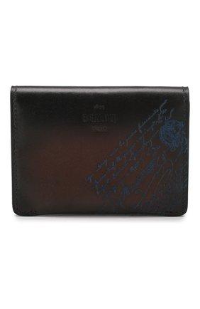 Мужской кожаный футляр для кредитных карт BERLUTI коричневого цвета, арт. N196471 | Фото 1