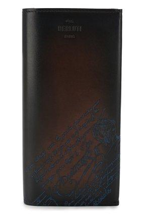 Мужская кожаный футляр для документов BERLUTI темно-синего цвета, арт. N196470 | Фото 1