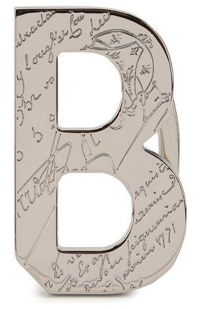 Мужской пряжка для ремня BERLUTI серебряного цвета, арт. CB013-001 | Фото 1