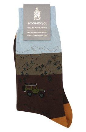 Мужские носки PANTHERELLA коричневого цвета, арт. YS4053 | Фото 1