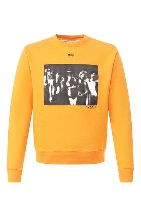 Мужской хлопковый свитшот OFF-WHITE оранжевого цвета, арт. 0MBA025R20E300151910   Фото 1