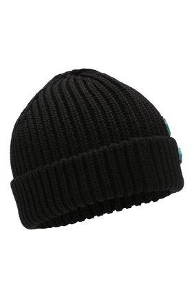 Мужская шерстяная шапка OFF-WHITE черного цвета, арт. 0MLC001R200200011000   Фото 1