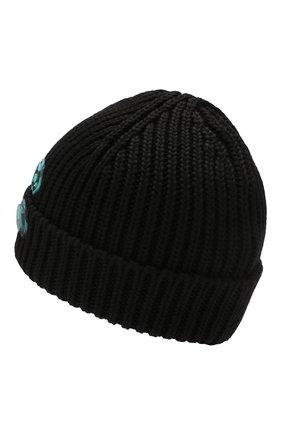 Мужская шерстяная шапка OFF-WHITE черного цвета, арт. 0MLC001R200200011000   Фото 2