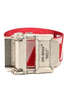 Мужской текстильный ремень OFF-WHITE красного цвета, арт. 0MRB034R20F420352001 | Фото 1