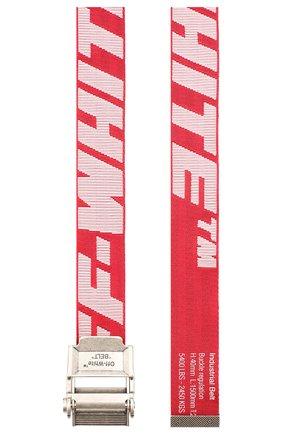 Мужской текстильный ремень OFF-WHITE красного цвета, арт. 0MRB034R20F420352001 | Фото 2