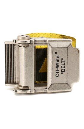 Мужской текстильный ремень OFF-WHITE желтого цвета, арт. 0MRB035R20F420356010 | Фото 1