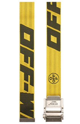 Мужской текстильный ремень OFF-WHITE желтого цвета, арт. 0MRB035R20F420356010 | Фото 2