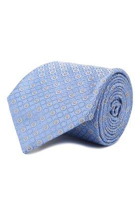 Мужской шелковый галстук CANALI голубого цвета, арт. 18/HJ02559   Фото 1