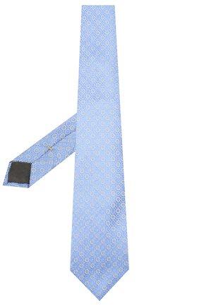 Мужской шелковый галстук CANALI голубого цвета, арт. 18/HJ02559   Фото 2