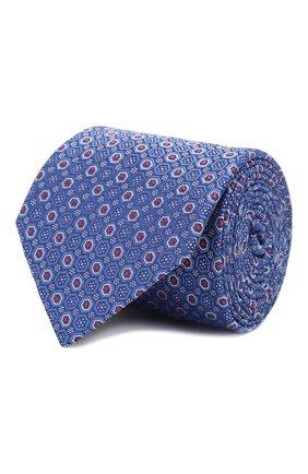 Мужской шелковый галстук CANALI синего цвета, арт. 18/HJ02559   Фото 1
